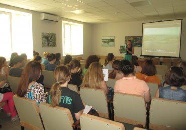 В заповеднике прошел открытый урок для студентов биологического факультета