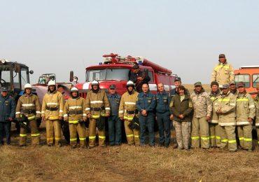 Действия ЛПФ Астраханского заповедника на учениях по тушению лесных пожаров оценены на отлично!