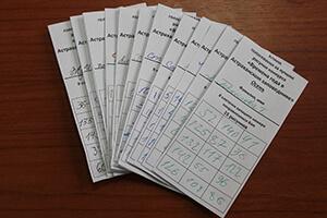 Бланки голосования