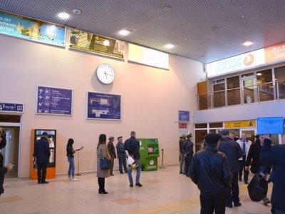 Зал ожидания в Астраханском аэропорту