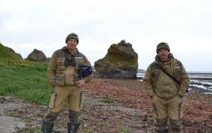 Госинспекторы Астраханского заповедника Владимир Николаев и Семен Митрофанов (слева направо)