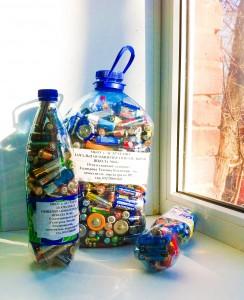 батарейки собранные учениками школы №60