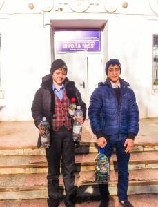 Участники акции, учащиеся СОШ №59
