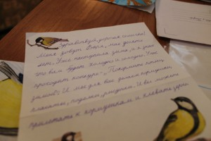 Письмо синичке от ученицы СОШ№20