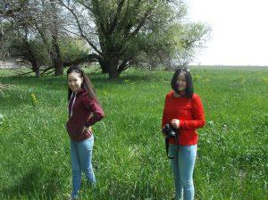 Динара Елемесова и Алина Серекбаева