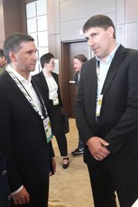 Министр Д.Н. Кобылкин и директор Астраханского заповедника Н.А.Цымлянский