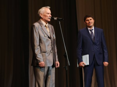 Герман Русанов и директор заповедника Николай Цымлянский