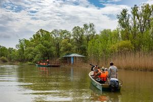 Путешествие на лодках по протокам дельты