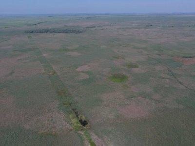 Прошлогодний разрыв к урочищу Трёхизбинский лес функционирует круглый год. Его обновление будет после устройства разрыва по северной границе заповедника.